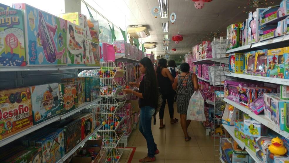 -  Crescimento no estado foi o quarto maior do país no varejo  Foto: Fabiana Figueiredo/G1
