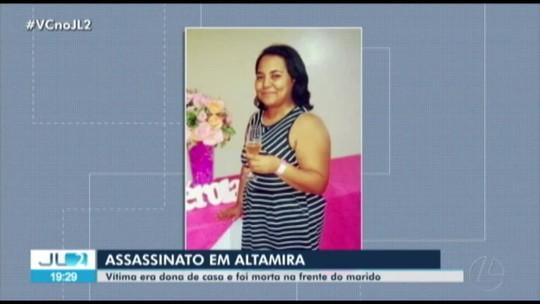 Mulher é morta a tiros e marido é atingido nos pés por motociclista em Altamira