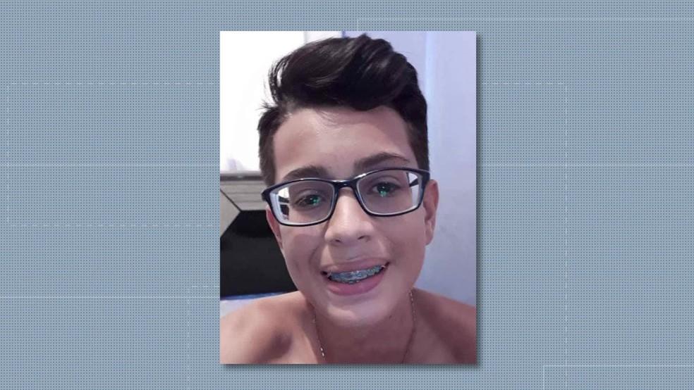 Luiz Carlos tinha 14 anos e estava no 9º ano do Ensino Fundamental (Foto: Reprodução/TV Globo)