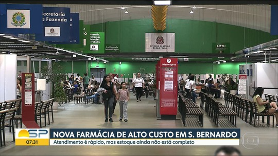 Farmácia de alto custo é inaugurada em São Bernardo com falta de medicamentos