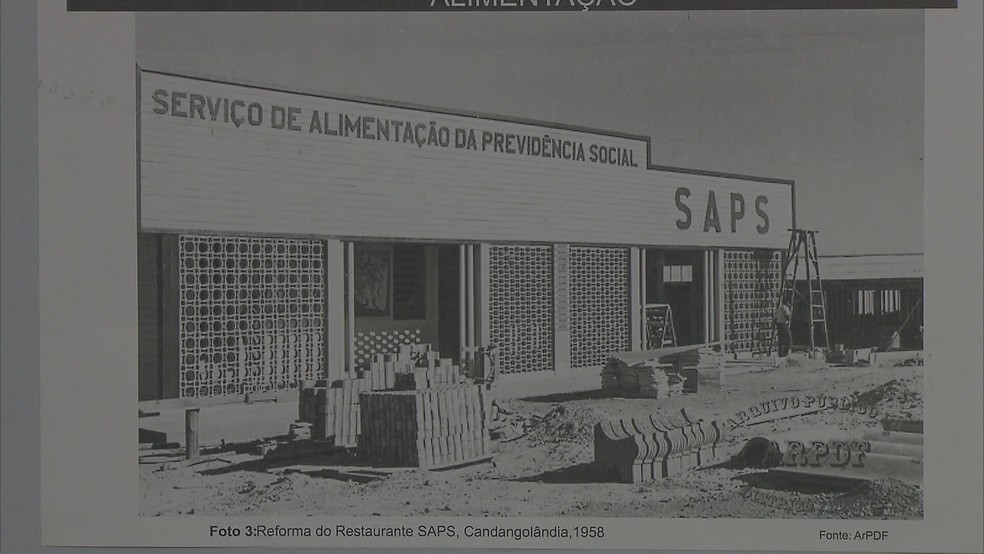 """O termo """"candango"""" surgiu em um restaurante da Candangolândia, onde operários que trabalhavam na construção de Brasília comiam — Foto: Reprodução TV Globo"""