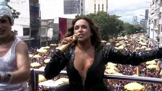 Daniela Mercury se apresenta no pós-carnaval de São Paulo