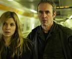 Clémence Poésy e Stephen Dillane em 'O túnel' | Reprodução