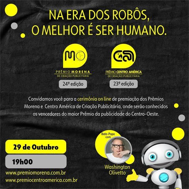 Prêmio Centro América de Criação Publicitária será realizado nesta quinta-feira de forma virtual
