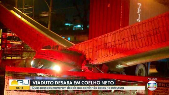 Viaduto desaba e deixa duas pessoas mortas em Coelho Neto