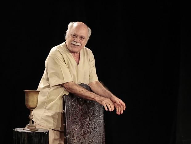 Tonico Pereira em  O Julgamento de Sócrates  (Foto:  Igor Mota)