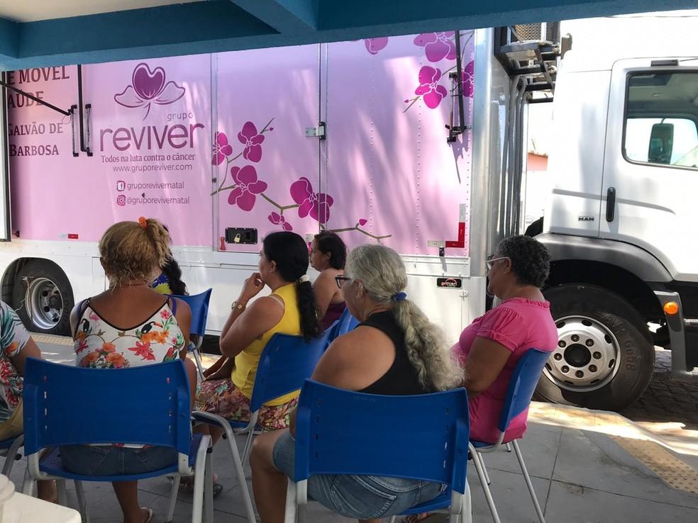 Unidade móvel oferece exames gratuitos de mamografia na Zona Norte de Natal — Foto: Divulgação