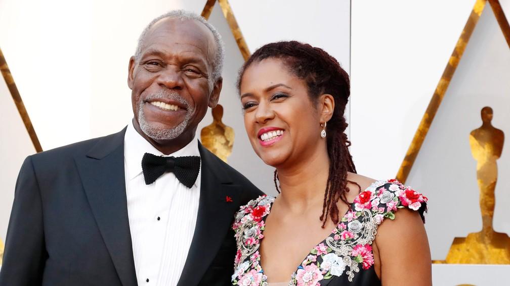 Danny Glover e a esposa, Eliane Cavalleiro, no tapete vermelho do Oscar 2018 (Foto: Mario Anzuoni/Reuters)