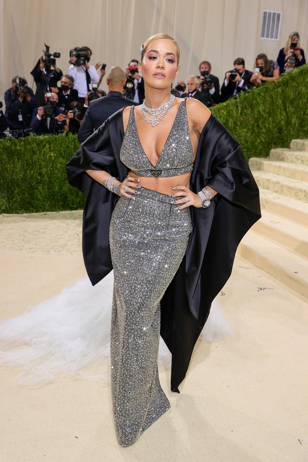 Rita Ora no Met Gala 2021 — Foto: Theo Wargo/Getty Images