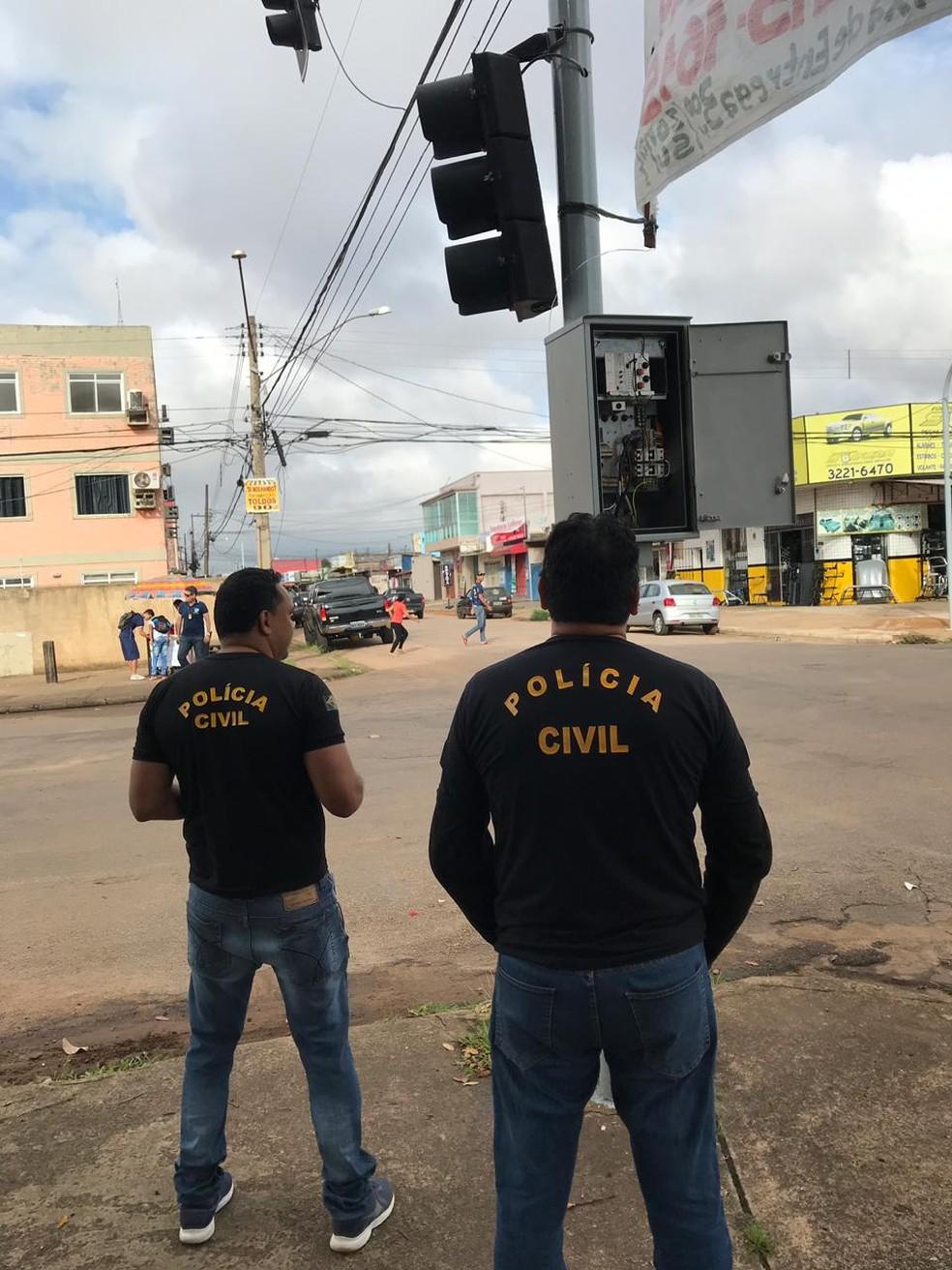Polícia Civil investiga sistema de fraude na manutenção de semáforos em Porto Velho — Foto: Ascom/Polícia Civil/Divulgação