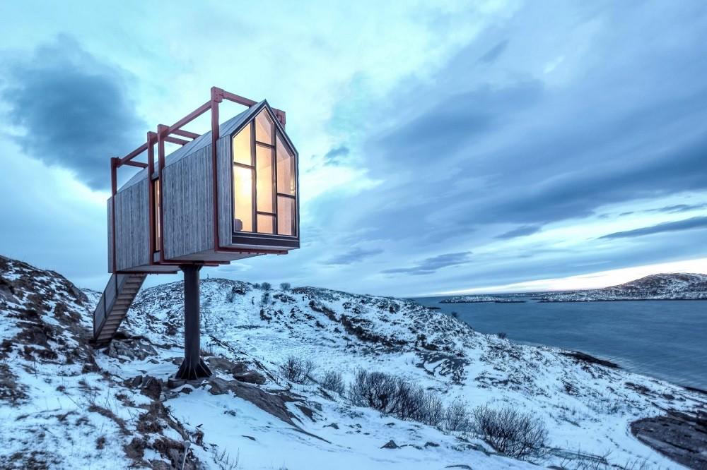 Fordypningsrommet Fleinvær tem uma vista incrível para as ilhas Lofoten (Foto: Pasi Aalto/Reprodução)