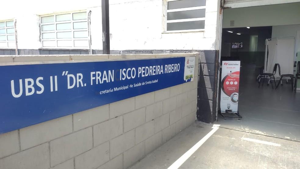 Posto de Saúde onde houve suspeita de desvio de vacinas — Foto: Prefeitura de Santa Isabel/Divulgação