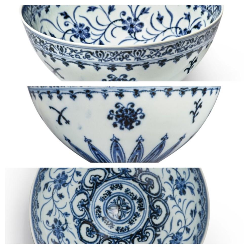 Imagens da peça de porcelana que será vendida — Foto: Divulgação/Sotheby's