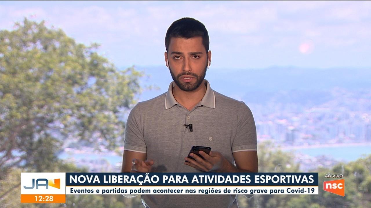 Atividades esportivas são liberadas nas regiões de risco grave para Covid-19