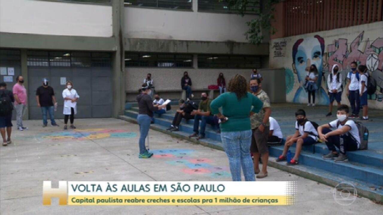 São Paulo reabre creches e escolas para mais de 1 milhão de estudantes