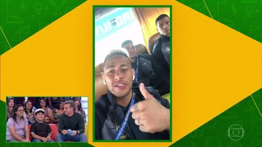 Neymar manda recado diretamente da Rússia para fã mirim