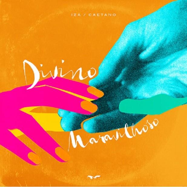 Capa do single Divino Maravilhoso de IZA e Caetano Veloso (Foto: Divulgação)