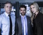 Marcello Novaes, Bruno Gagliasso e Luana Piovani em 'Dupla identidade' | Estevam Avellar/TV Globo