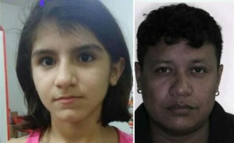A menina Sádia Reis Barros e o padrasto Leilson de Souza Marinho foram vistos pela última vez no dia 16 de setembro, no Monte Horebe — Foto: Divulgação/Arquivo pessoal