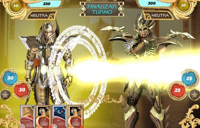 Os golpes no jogo dos Cavaleiros são acompanhados por animações (Foto: Divulgação)