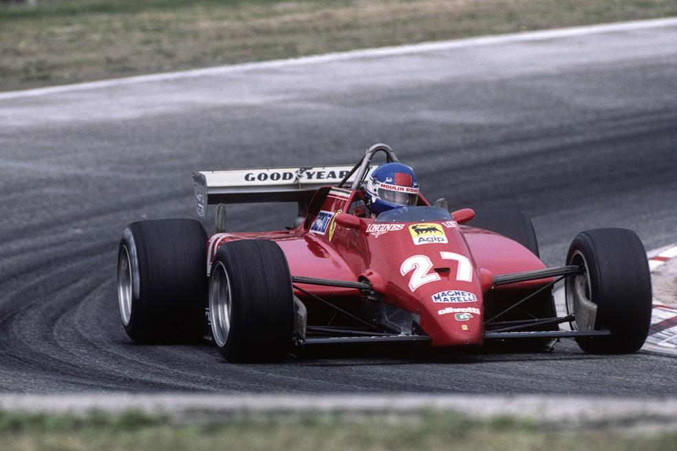 Patrick Tambay conquistou sua primeira vitória no GP da Alemanha de 1982 — Foto: Getty Images