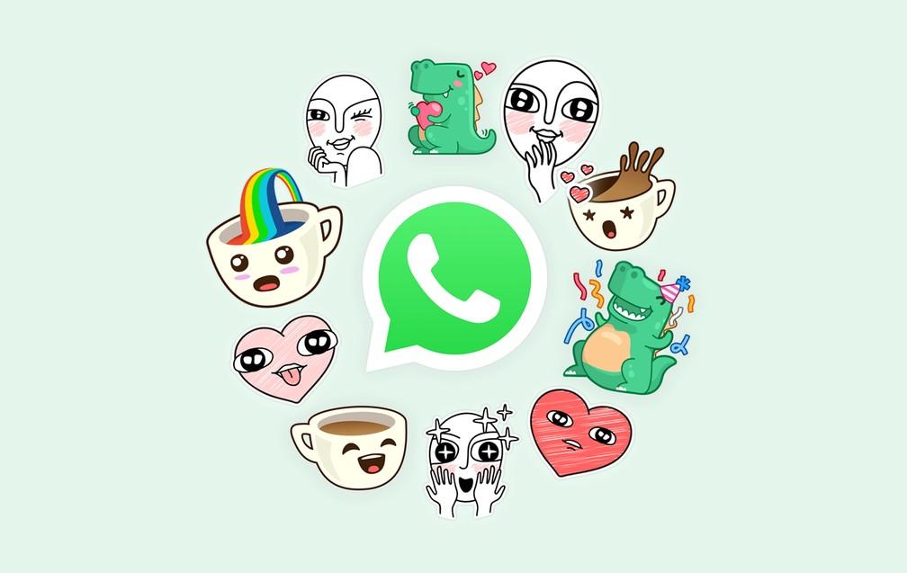 Whatsapp passará a ter figurinhas em conversas — Foto: Divulgação/Whatsapp