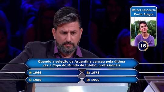 Participante de Caxias do Sul ganha R$ 30 mil em quadro do 'Caldeirão do Huck'