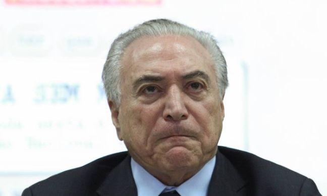 Michel Temer, presidente da República, um tanto quanto irritado (Foto: Andre Coelho / Agência O Globo)