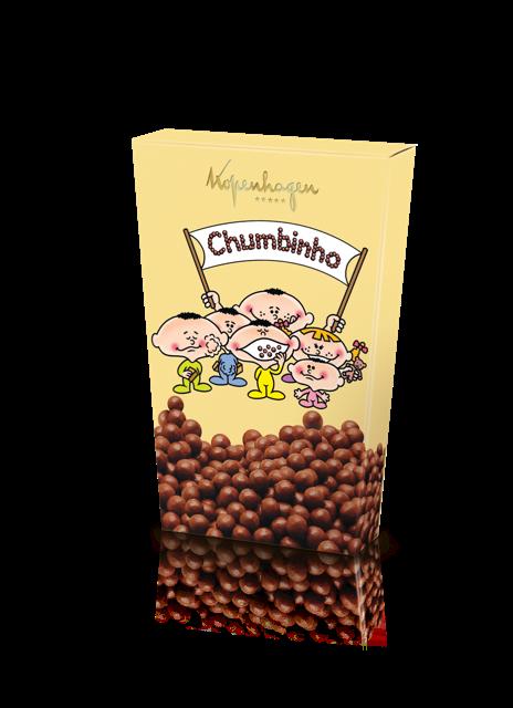 Chumbinho: pérolas de açúcar cobertas por chocolate ao leite, o preço sugerido é R$24 (Foto: Divulgação)