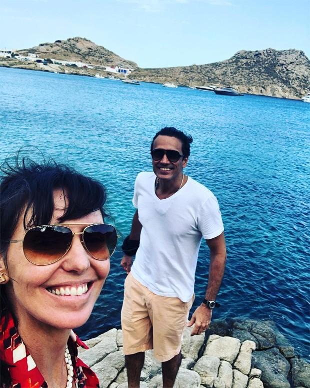 Glenda Kozlowski e Luis Tepedino (Foto: Reprodução/Instagram)