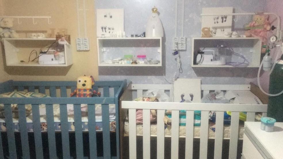 Talita montou estrutura para cuidar dos bebês em Itapuí — Foto: Arquivo pessoal/Talita Cavalari
