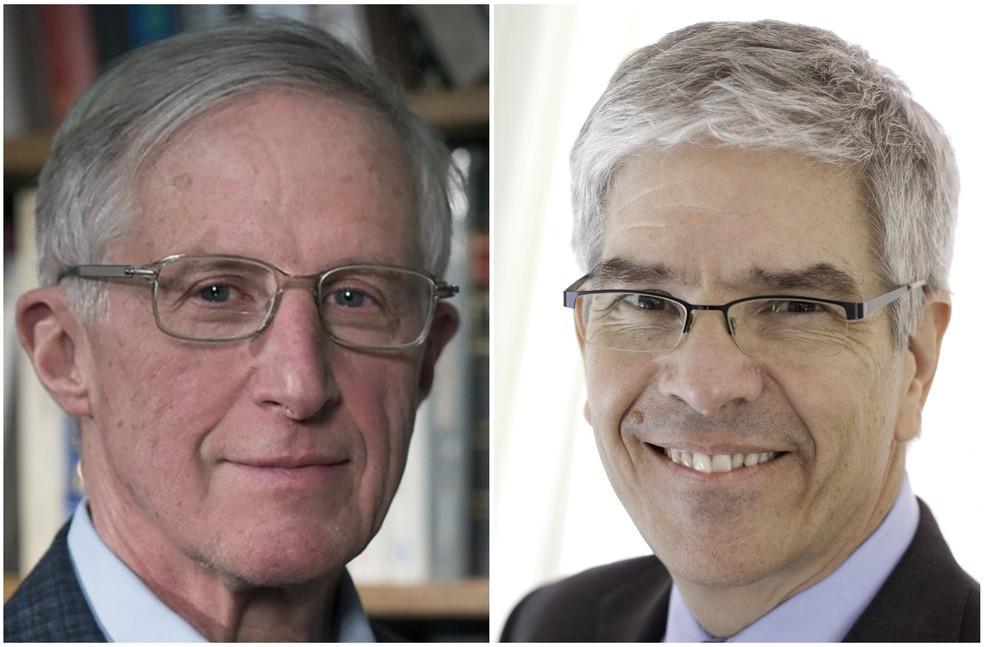 William D. Nordhaus e Paul Romer, que ganharam o Prêmio Nobel de Economia de 2018 — Foto: CNW/BBVA Foundation Award to William Nordhaus/NYU Stern School of Business/Handouts via REUTERS