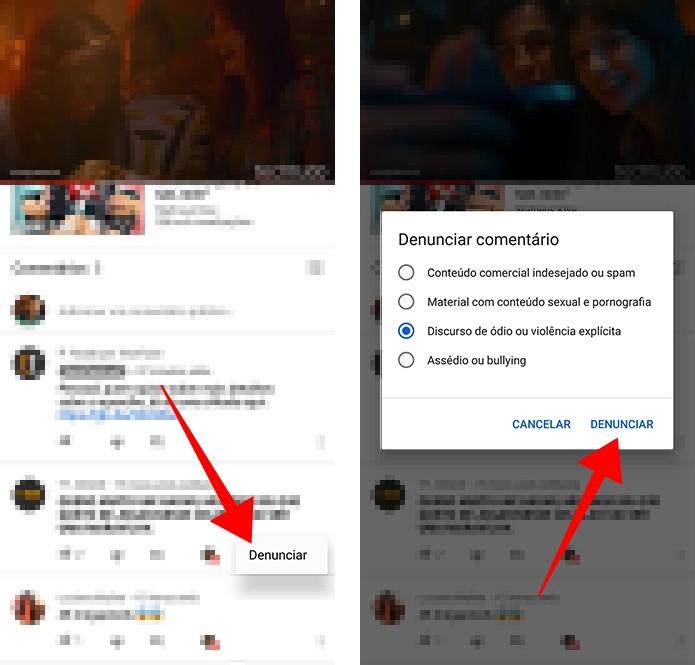 Denuncie comentários individualmente no YouTube para celular (Foto: Reprodução/Paulo Alves)