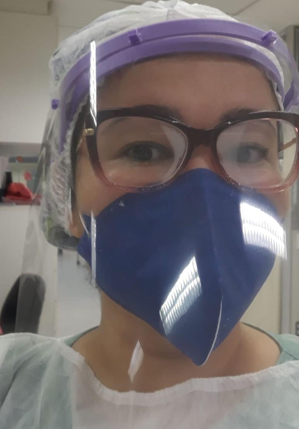 Enfermeira Mara Santos — Foto: Arquivo Pessoal