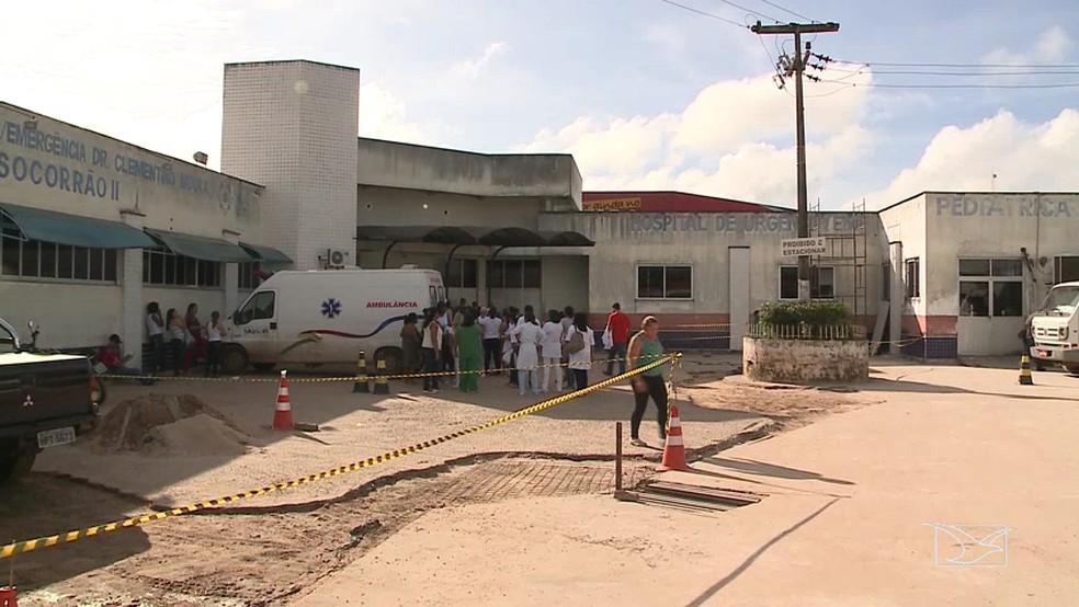 Hospital Socorrão II, em São Luís — Foto: Reprodução/TV Mirante