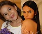 Bruna Marquezine interpretou a pequena Salete, filha de Téo (Tony Ramos) e Fernanda (Vanessa Gerbelli). O trabalho mais recente da atriz na TV foi em 'Deus salve o rei' (2018) | TV Globo- Reprodução/Instagram