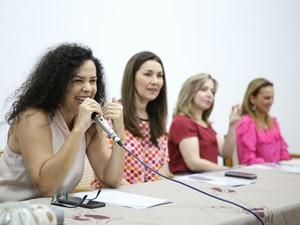 Presidente do Iphan, Kátia Bogéa, durante evento em São Raimundo Nonato, no Piauí (Foto: Benonias Cardoso)
