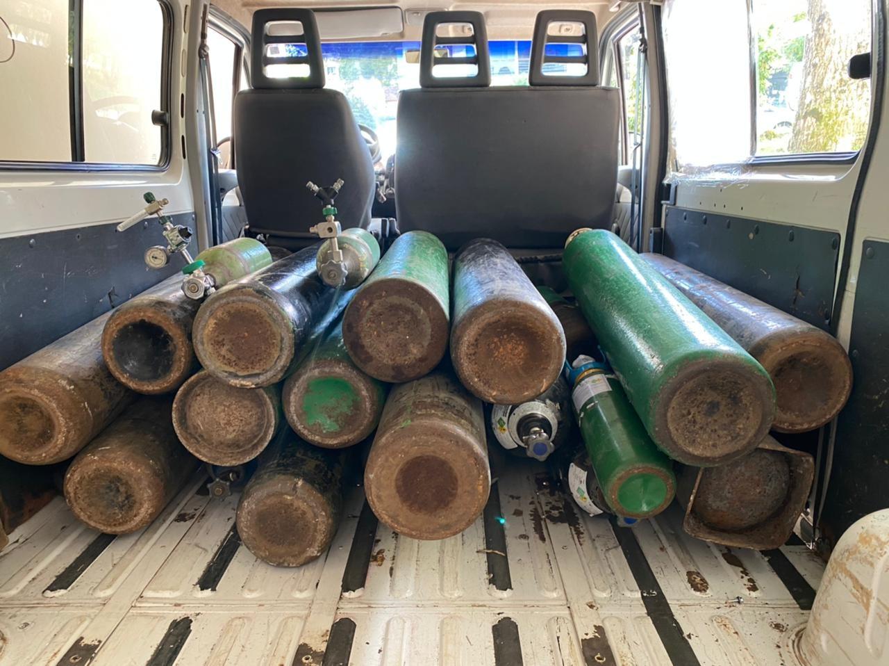 Associação de Canela faz campanha para coletar doações de cilindros de oxigênio
