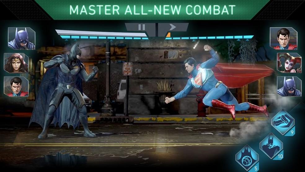 Sucesso nos consoles, Injustice 2 também leva heróis e vilões da DC aos celulares — Foto: Divulgação/Warner Bros. Games