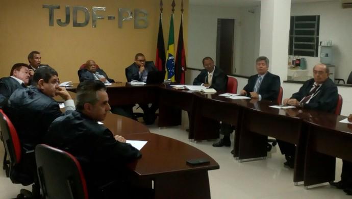 TJD-PB; Julgamento Atlético-PB e Botafogo-PB  (Foto: Divulgação / Tribunal de Justiça Desportiva da Paraíba)