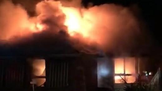 Imagem do incêndio  (Foto: Reprodução)