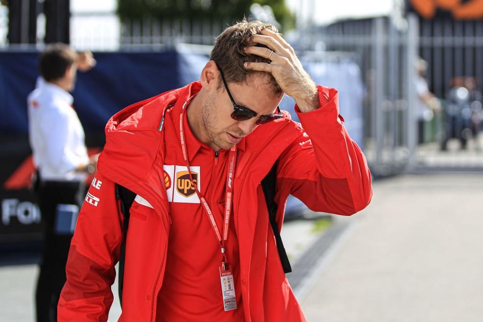 Sebastian Vettel, da Ferrari, no GP da Itália de 2019 — Foto: Emmanuele Ciancaglini/Getty Images