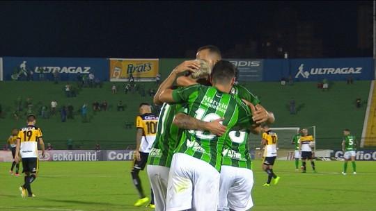 O gol de Guarani 1 x o Criciúma pela 5ª rodada da Série B
