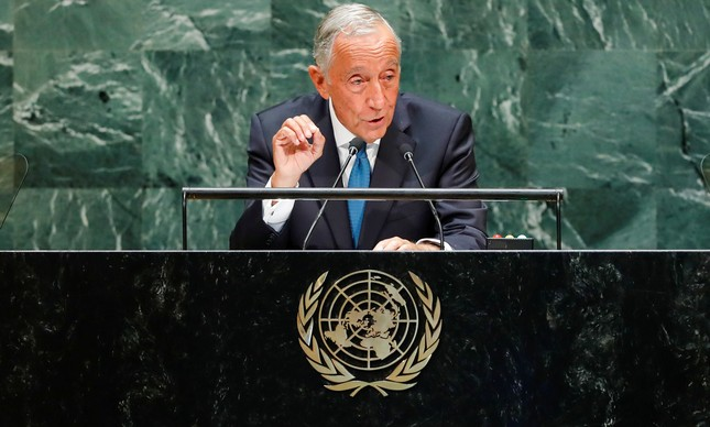 O presidente de Portugal, Marcelo Rebelo de Sousa, na ONU