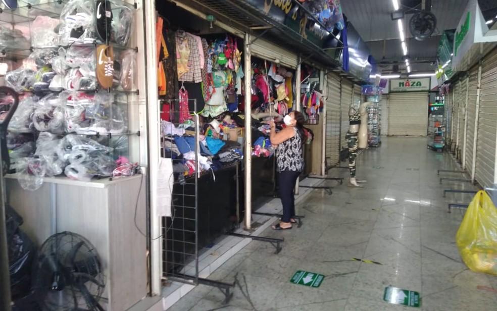 Após três meses fechado por causa da pandemia, comércio varejista reabre em Goiânia — Foto: Bruno Mendes/TV Anhanguera