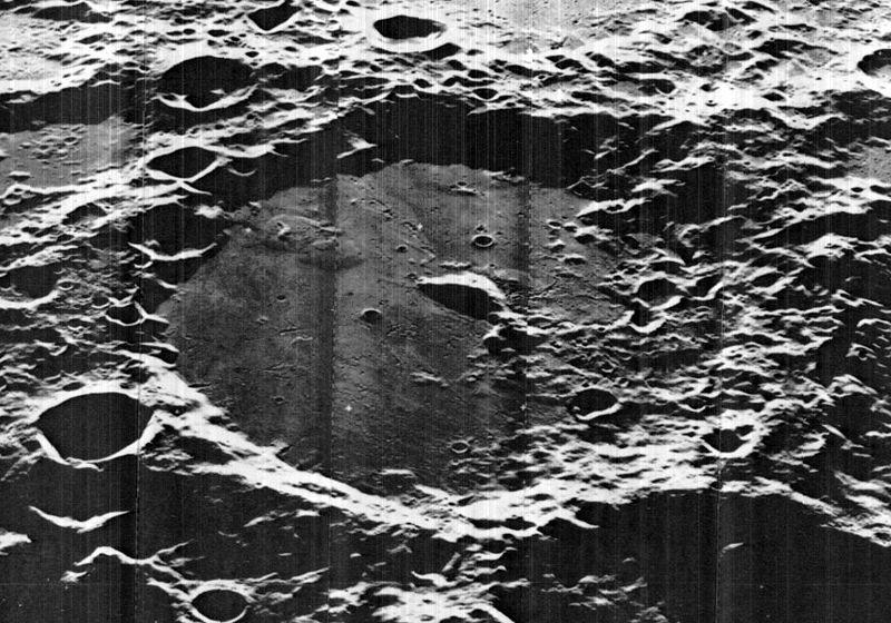 Cratera lunar Von Kármán, onde a sona chinesa deverá pousar em 2019 (Foto: James Stuby based on NASA image/Wikimedia Commons)