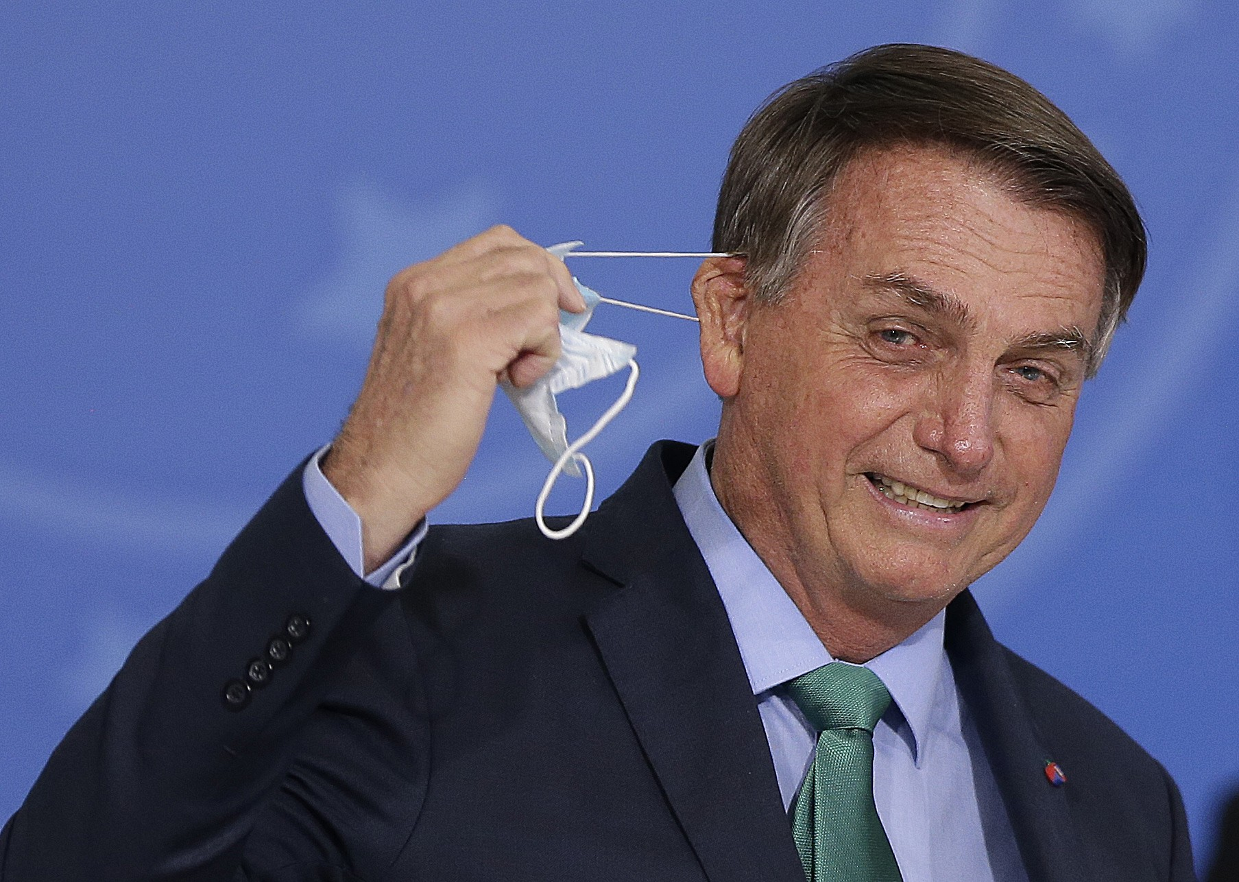 O presidente em evento no Planalto: comentário indelicado durante encontro