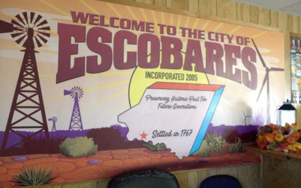 Escobares ganhou status de cidade em 2005, após uma mobilização de seus moradores para tal — Foto: BBC