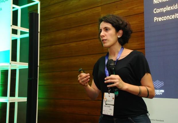 Rosine Kadamami, fundadora da Blockchain Academy (Foto: Rafael Jota)