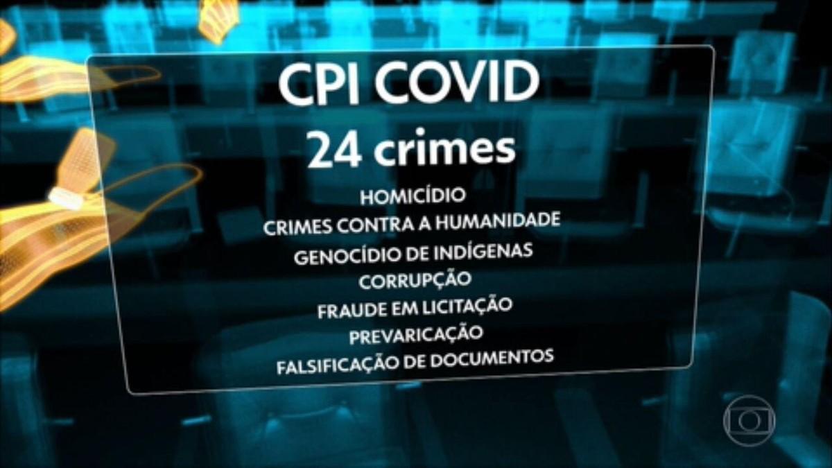 Minuta do relatório final da CPI identifica 24 crimes